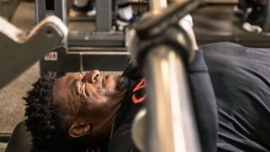 DK Metcalf benching at the NFL Combine