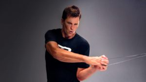 Tom Brady workout with resistance bands