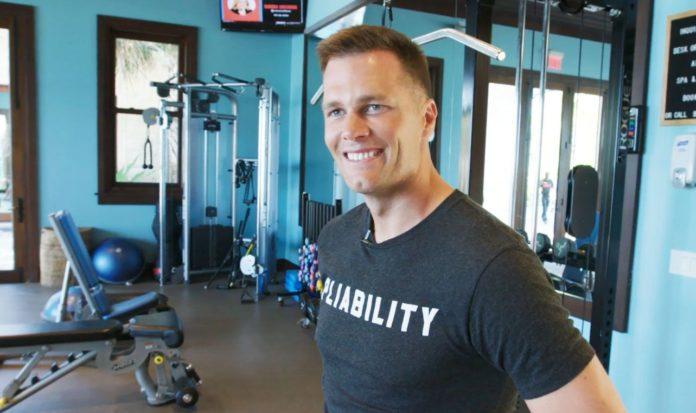 Tom Brady workout with a pliability shirt on