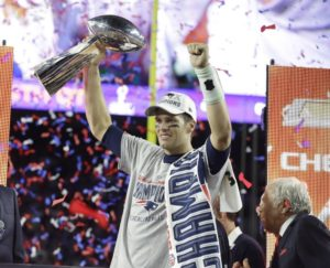 Tom Brady wins his third Superbowl in 2004 with the New England Patriots