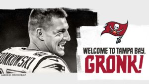 Rob Gronkowski welcomed to the Buccaneers by the Tampa Bay instagram account