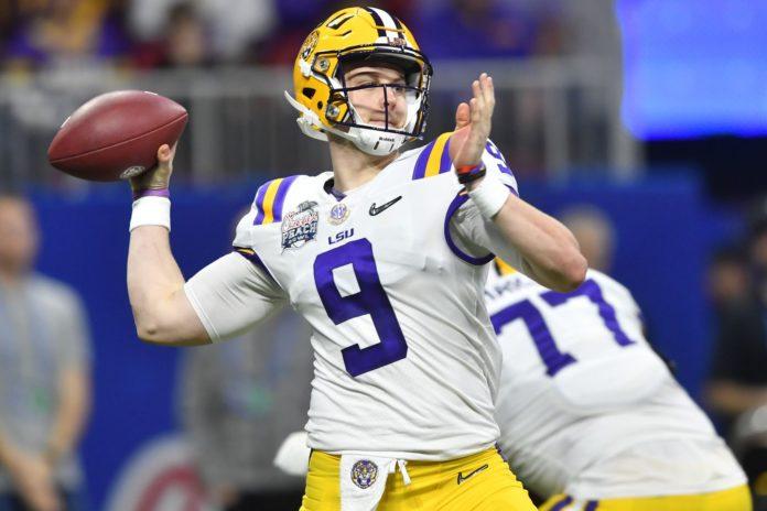 Joe Burrow of LSU is one of the top quarterbacks in the 2020 NFL Draft