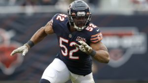 Khalil Mack of the Chicago Bears is one of the highest paid players in the NFL