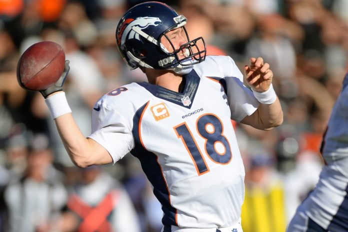 Peyton Manning of the Denver Broncos passing for the most touchdowns in a single NFL season in 2013