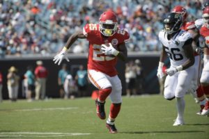 LeSean McCoy playing for the Kansas City Chiefs is a free agent this offseason