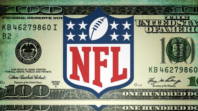 NFL logo on a dollar bill