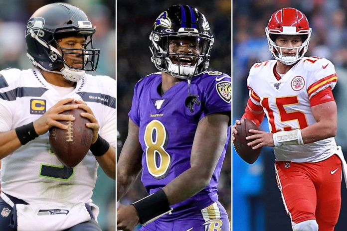 Russell Wilson, Lamar Jackson, and Patrick Mahomes are among the best quarterbacks in the NFL