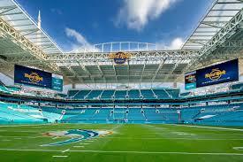 Hard Rock Stadium in Miami Gardens, Florida, home of the Miami Dolphins