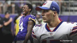 Buffalo Bills quarterback Josh Allen and new wide receiver Stefon Diggs